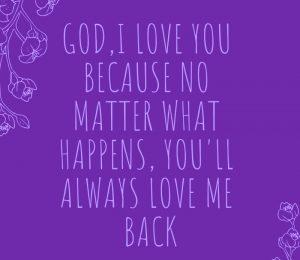 Love for God Images