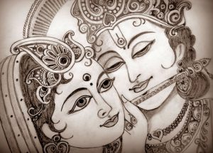 Radha Krishna Drawing Images