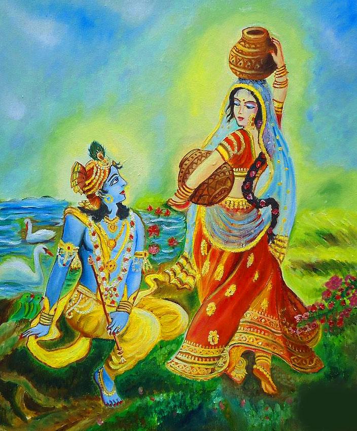 Radha Krishna Pics Wallpaper Paint Free